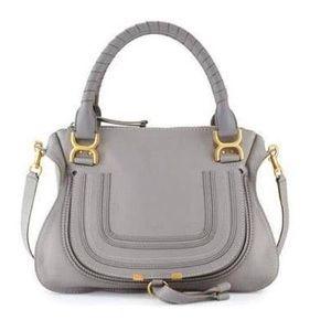 Chloe medium satchel grey designer bag